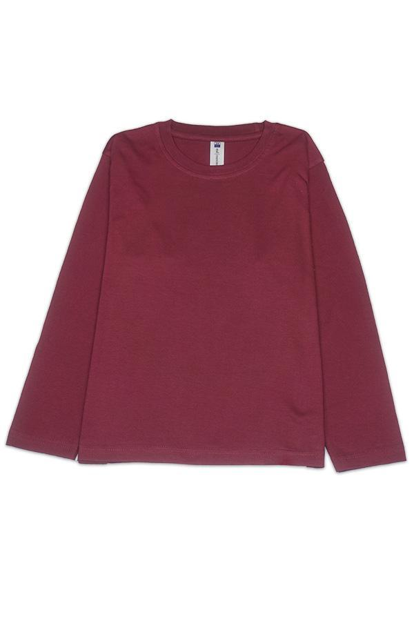 MD Kids Fullycombed Long Sleeve - Burgundy